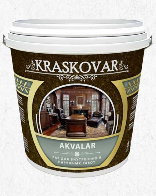 Лак для внутренних и наружных работ Kraskovar Akvalar