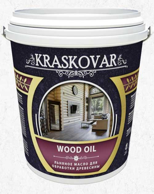 Масло льняное для древесины Kraskovar Wood Oil